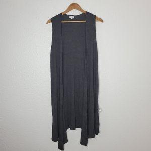 Lularoe Gray Textured Joy Vest Duster